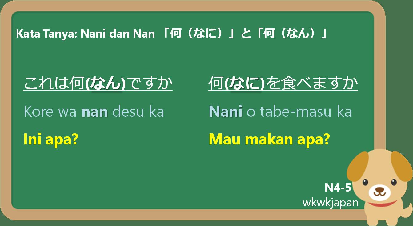 Kata Tanya Nani Dan Nan 何なにと何なん