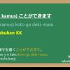 KK(Bentuk Kamus) + koto ga deki-masu 「ことができます」