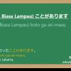 Koto ga ari-masu 「ことがあります」