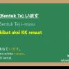 KK sesaat / berlanjut (Bentuk Te) + i-masu 「います」
