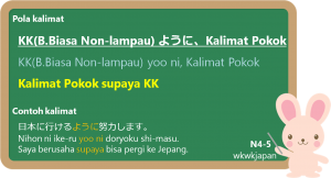 """Yoo ni & Perbedaan antara """"yoo ni"""" dan """"tame ni"""" 「ように」"""