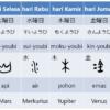 Nama Hari dalam Bahasa Jepang