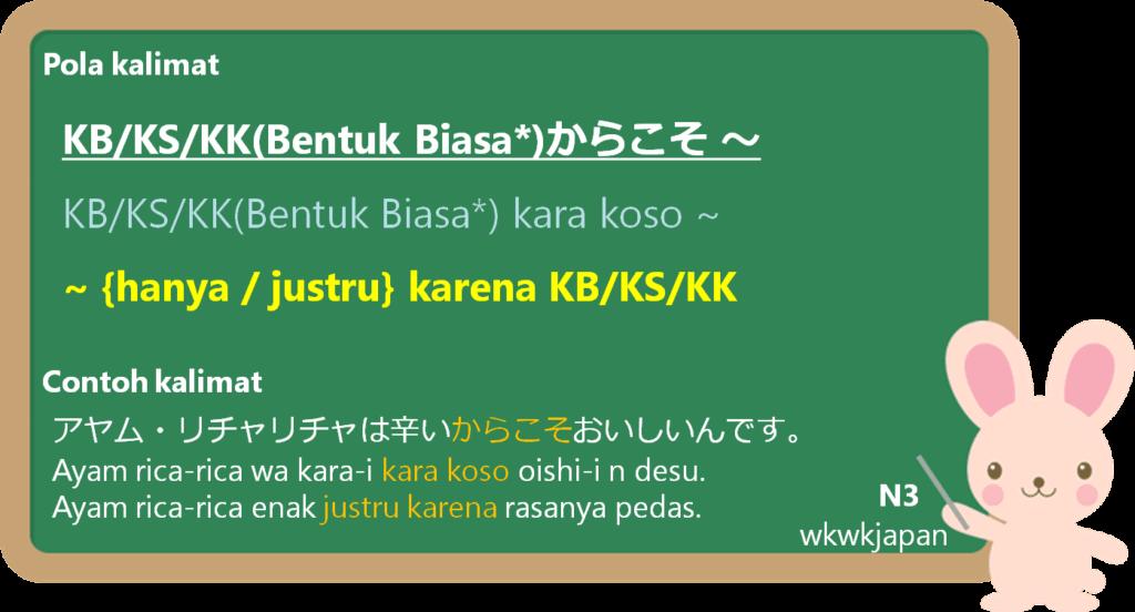 からこそ (kara koso) dalam Bahasa Jepang | Belajar Bahasa ...