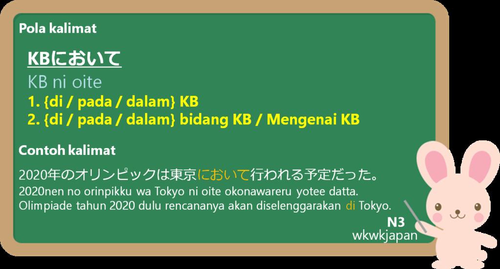 において(ni oite) dalam Bahasa Jepang | Belajar Bahasa Jepang ...