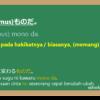 ~ ものだ (mono da) dalam Bahasa Jepang